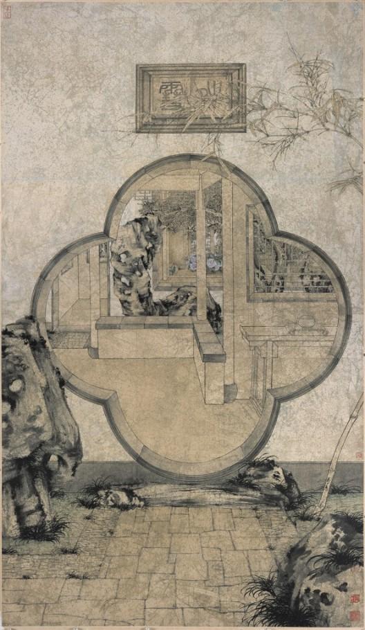 "鄭力,《晴雪》,水墨設色紙本,233 x 135 cm,2002(圖檔由藝術家及漢雅軒提供) ZHENG Li,""Pure as Snow"",Ink and Colour on Paper,233 x 135 cm,2002( Image Courtesy of the Artist and Hanart TZ Gallery)"