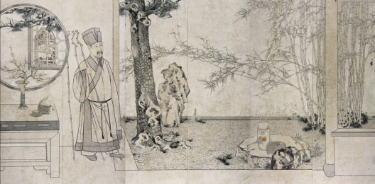 "鄭力,《我亦有亭深竹里,也思歸去聽秋聲》,水墨設色紙本,184 x 372 cm,2015(圖檔由藝術家及漢雅軒提供) ZHENG Li,""I have a pavilion deep in the bamboo forest, where I long to listen to the autumn wind"",Ink and Colour on Paper,184 x 372 cm,2015( Image Courtesy of the Artist and Hanart TZ Gallery)"
