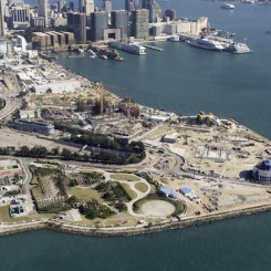 Bird's-eye view of West Kowloon Cultural District. Courtesy West Kowloon Cultural District Authority.