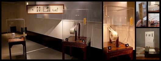 """《电影机》(本档期火热上映:千个夏)    Movie Machine (now presents the hot movie: """"A Thousand Summers""""),2016,电子媒体,水墨纸本   Mechanical media, ink on paper,160 x 180 x 100 cm"""