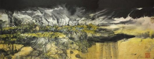 《念 (号码13456)》 Will (number 13456) ,2016,水墨设色纸本  Ink and colour on paper, 46 x 120 cm