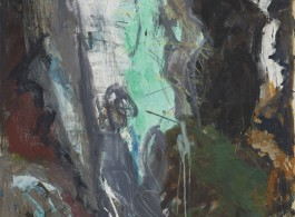 Per Kirkeby, Untitled, 1981. Oil on canvas. 78 3/4 x 51 1/4 inches, (200 x 130 cm). Image courtesy the artist and Michael Werner Gallery,