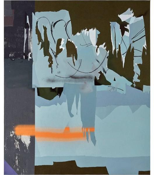 韩冰,《洛杉矶下城》,布面丙烯,2016 HAN Bing, DTLA, Acrylic on Canvas, 182×152cm