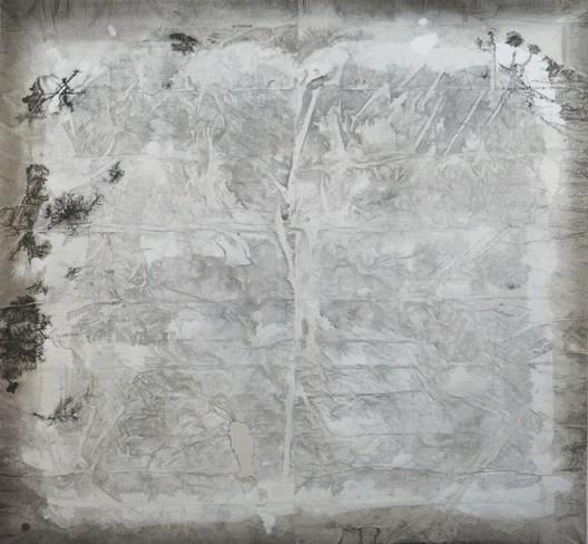 插图20 《灰白》(二〇〇九年作,宣纸、 墨、丙烯,纵一五二·五厘米, 横一六二·五厘米),山崎明 子与杨致远藏。
