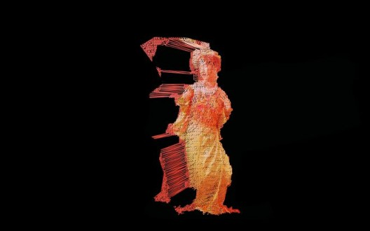 "Ngoc Nau, ""She Dances for Desire"", Holographic installation, 3 x 2 x 5 m, 2017 Ngoc Nau,《她為慾望舞動》,全息圖裝置,3 x 2 x 5 米,2017"