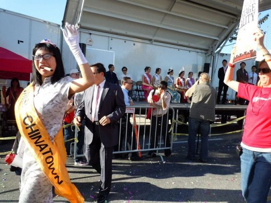 """Kristina Wong, """"Fannie Wong Former Miss Chinatown 2nd, Runner Up: Chinese New Year Parade, Enlarged Photo/ Framed, 2012 黄君仪,《前中国城小姐亚军Fannie Wong春节游行》,放大照片,画框,2012"""