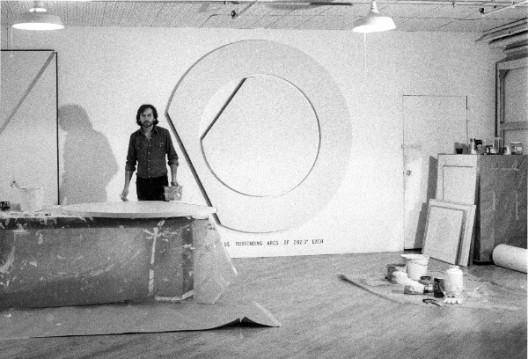 Bernar Venet in his studio, New York, 1978 Courtesy Archives Bernar Venet, New York and Blain Southern