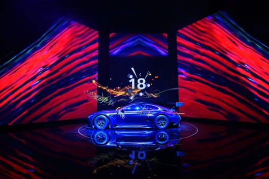 World Premiere BMW Art Car #18 by Cao Fei, Minsheng Art Museum, Beijing, 31 May 2017.© BMW AG 曹斐设计的第18辆宝马艺术汽车全球首发,北京民生现代美术馆,2017年5月31日(版权归宝马汽车公司所有)