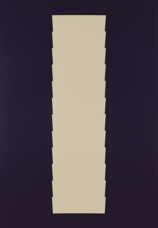 Tess Jaray, Citadel (Light on Dark), 2016, paint on canvas, 180 x 125 cm, copyright Tess Jaray, 2017. All rights reserved. Courtesy Karsten Schubert and Marlborough Fine Art, London