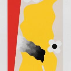 《蜿蜒之门》,布面水粉 Serpentine Door, gouache on canvas 182.9 × 91.4 cm,2017