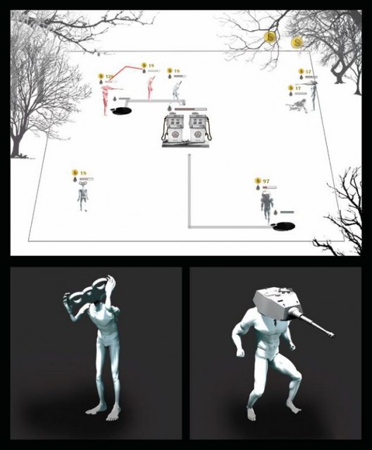"WONG Chung-yu, ""Carnivore"", Real-time random animation, 2015 (Image courtesy of the Artist and Hanart TZ Gallery) 黄琮瑜,《肉食者》,动画,2015(图片由艺术家及汉雅轩提供)"