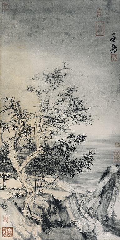 郑力,《霜降》,水墨 纸本,75 x 37 cm,2002(图片由艺术家及汉雅轩提供) ZHENG Li,