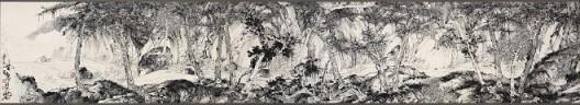 郑力,《万壑松风图卷》,水墨 纸本,36 x 196 cm,2010(图片由艺术家及汉雅轩提供) ZHENG Li,