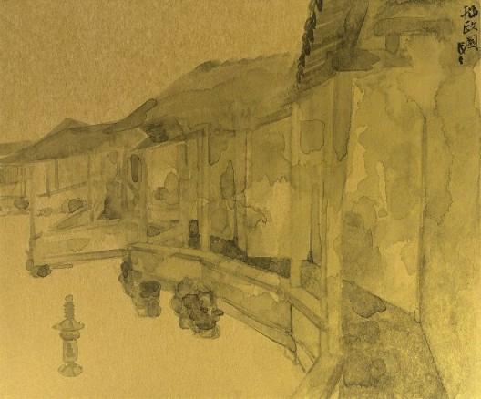 郑力,《拙政园》,水墨 金笺,38 x 45.5 cm,2011(图片由艺术家及汉雅轩提供) ZHENG Li,