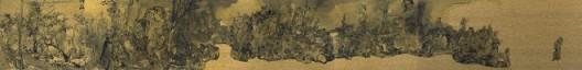 郑力,《狮子林全图》,水墨 金笺,45.5 x 371 cm ,2016(图片由艺术家及汉雅轩提供) ZHENG Li,