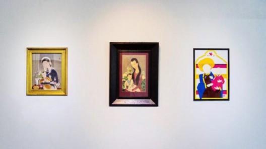 "R. Streitmatter-Tran , ""Departures: Intersecting Modern Vietnamese Art with R. Streitmatter-Tran"", de Sarthe Gallery, Hong Kong, 2017 (courtesy of de Sarthe Gallery) 陈德良,""离境:陈德良与越南现代艺术的交织"",展览现场,德萨画廊,香港,2017(图片由德萨画廊提供)"