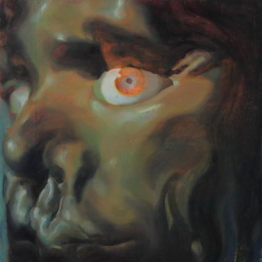 "ZHANG Yunyao ""Fear"", 2015, Oil on panel, 30 x 30 cm,Courtesy the Artist, Perrotin and Don Gallery張雲垚,《畏惧》,2015,木板上油彩,30 x 30 cm,图片提供:艺术家、贝浩登和东画廊"