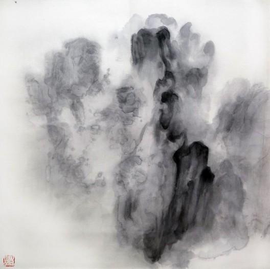 """徐龙森,《云图之三》,水墨纸本,122 x 122 cm,2015(图片由艺术家提供) XU Longsen, """"Cloud Series No. 3"""", Ink on Paper, 122 x 122 cm, 2015 (Image Courtesy of the Artist)"""
