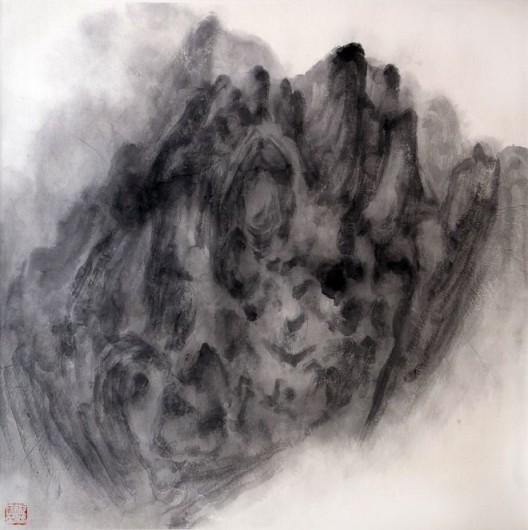 """徐龙森,《云图之四》,水墨纸本,122 x 122 cm,2015(图片由艺术家提供) XU Longsen, """"Cloud Series No. 4"""", Ink on Paper, 122 x 122 cm, 2015 (Image Courtesy of the Artist)"""