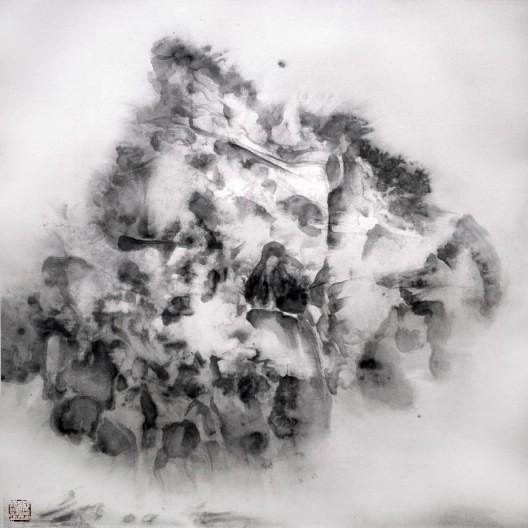 """徐龙森,《云图之六》,水墨纸本,122 x 122 cm,2015(图片由艺术家提供) XU Longsen, """"Cloud Series No. 6"""", Ink on Paper, 122 x 122 cm, 2015 (Image Courtesy of the Artist)"""