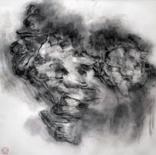 """徐龙森,《云图之七》,水墨纸本,122 x 122 cm,2015(图片由艺术家提供) XU Longsen, """"Cloud Series No. 7"""", Ink on Paper, 122 x 122 cm, 2015 (Image Courtesy of the Artist)"""