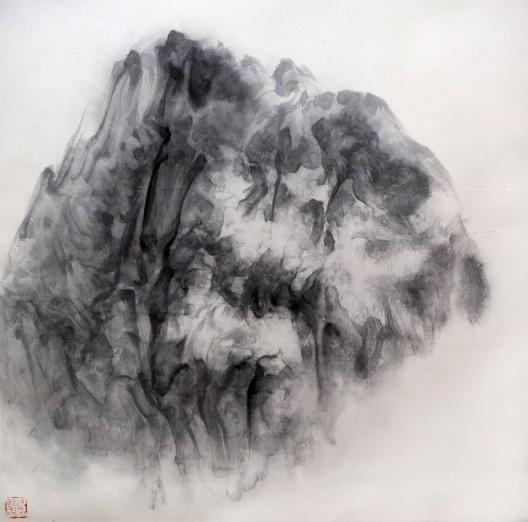 """徐龙森,《云图之九》,水墨纸本,122 x 122 cm,2015(图片由艺术家提供) XU Longsen, """"Cloud Series No. 9"""", Ink on Paper, 122 x 122 cm, 2015 (Image Courtesy of the Artist)"""