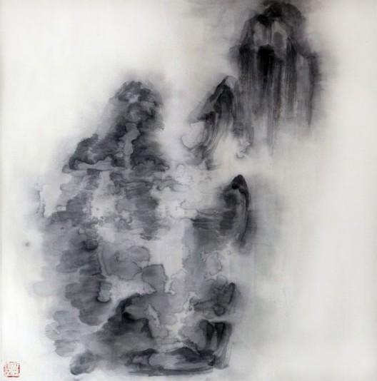 """徐龙森,《云图之十》,水墨纸本,122 x 122 cm,2015(图片由艺术家提供) XU Longsen, """"Cloud Series No. 10"""", Ink on Paper, 122 x 122 cm, 2015 (Image Courtesy of the Artist)"""