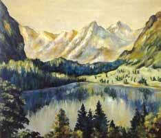 《国王湖1913-2013》,布上油画,35.5×40.5 cm,2013