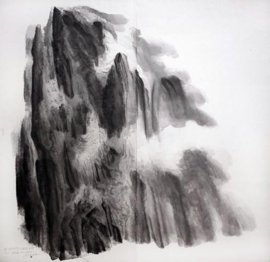 """徐龙森,《杜甫诗意图之二》,水墨纸本,150 x 147 cm,2010(图片由艺术家提供) XU Longsen, """"Poetic Spirit of Du Fu No. 2"""", Ink on Paper, 150 x 147 cm, 2010 (Image Courtesy of the Artist)"""