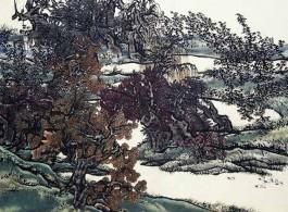 《芥子园3》,绢本工笔重彩,110×150 cm,2011