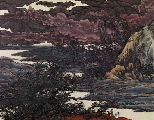 《芥子园2》,绢本工笔重彩,110×150 cm,2011