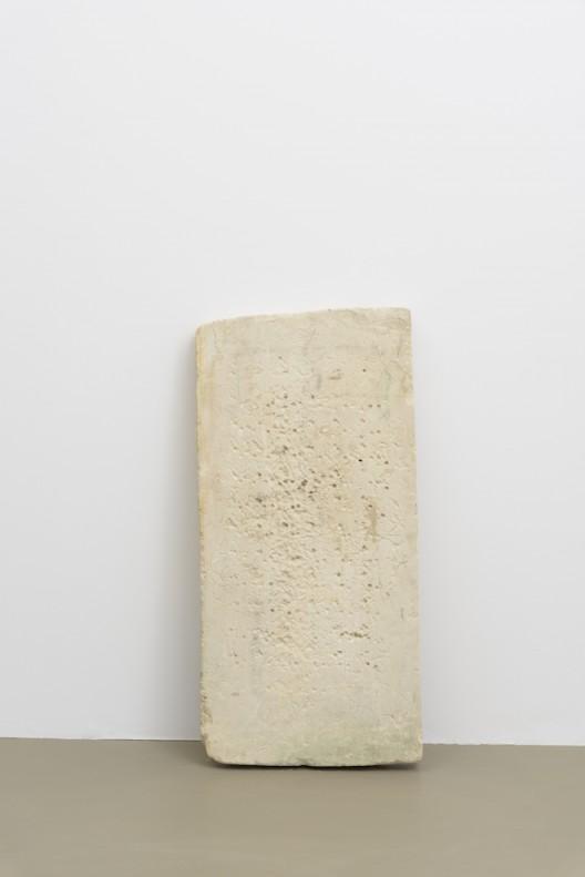Gabriel Orozco 'Rotoglyph' 2017 Pierre calcaire de Bali /Balinese limestone 110 x 55 x 5 cm / 43 2/8 x 21 5/8 x 2 inches  (Courtesy of the artist and Galerie Chantal Crousel, Paris Photo : Florian Kleinefenn)