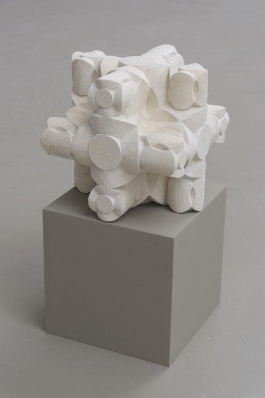 Gabriel Orozco 'Dé étoilé' 2017 Pierre calcaire / Limestone 30 x 30 x 30 cm / 11 6/8 x 11 6/8 x 11 6/8 inches GO17 48 (Courtesy of the artist and Galerie Chantal Crousel, Paris Photo : Florian Kleinefenn)