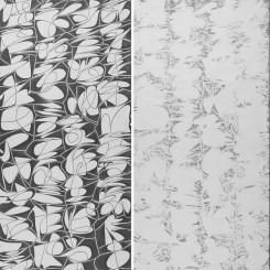 Wang Duo, Imitation of Wang Xizhi's Yongjia · Jingyu Calligraphy (Yin · Yang) 王铎,《临王羲之永嘉·敬豫贴》(阴 · 阳) Ink on paper, 373 x 144 cm x 2 pieces, 2017 ( as 1 set )