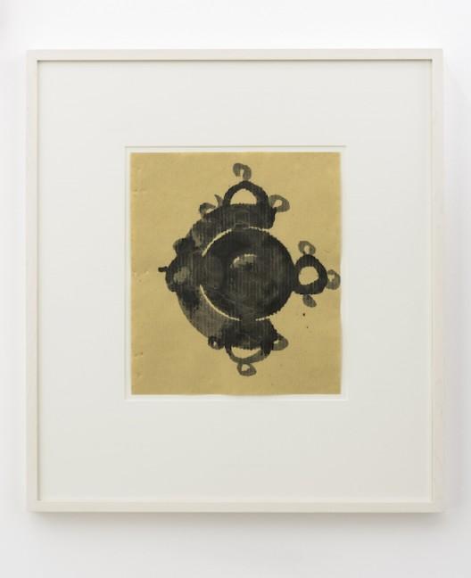Gabriel Orozco Bali notebook calligraphics, 2017, Encre sur page de carnet / Ink on notebook paper, 29 x 24 cm / 11 3/8 x 9 1/2 inches | 65 x 59 x 2 cm / 25 5/8 x 23 2/8 x 6/8 inches (framed/encadré - each/each)  (Courtesy of the artist and Galerie Chantal Crousel, Paris Photo : Florian Kleinefenn)