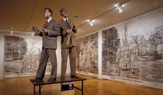 The Singing Sculpture, Sonnabend Gallery, New York, 1991. © 2017 Gilbert & George