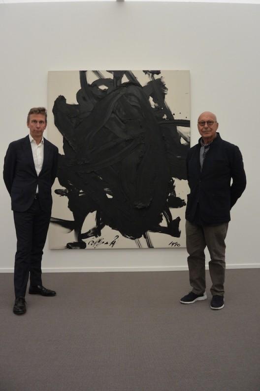 Boris and Axel Vervoordt with Kazuo Shiraga
