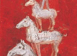 Gao Xiang, Horse Pagoda, 2010, oil and acrylic on canvas, 61 x 46 cm (image courtesy the artist and Katrine Levine Galleries)