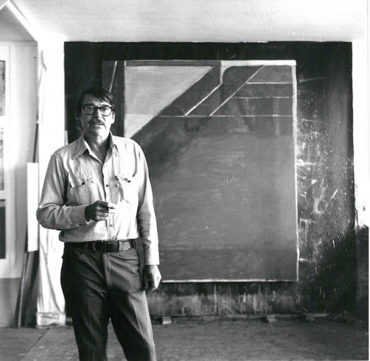 Richard Diebenkorn at his studio in Santa Monica 1972. Photo Gilbert Lloyd. Copyright Marlborough Fine Art