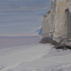 """Gao Xiang, """"Silent Cliffs 6"""", acrylic on canvas, 40 x 30cm 2014 (image courtesy the artist and Katrine Levin Galleries)"""