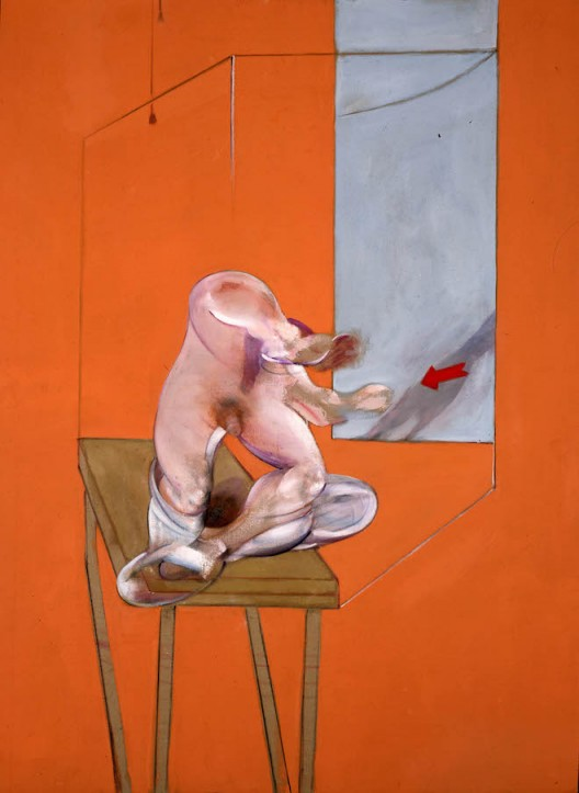 Francis Bacon, Study from the Human Body – Figure in Movement, 1982, oil on canvas, 198 x 147.5 cm (image courtesy the artist's Estate and Marlborough Fine Art)