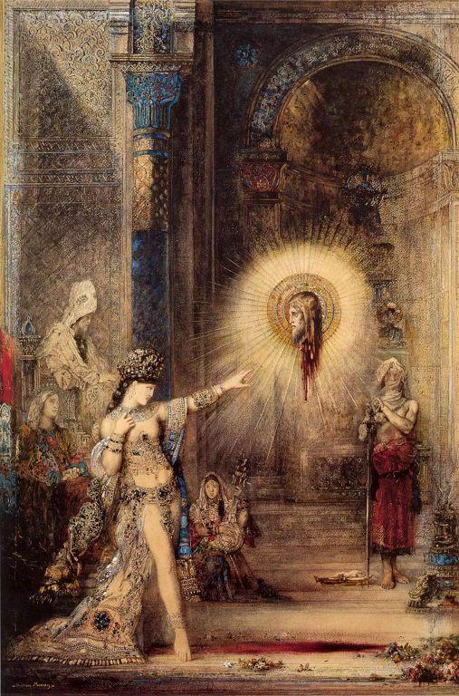 莫罗(Gustave Moreau)以莎乐美故事为主题的《施洗约翰的头在显灵》