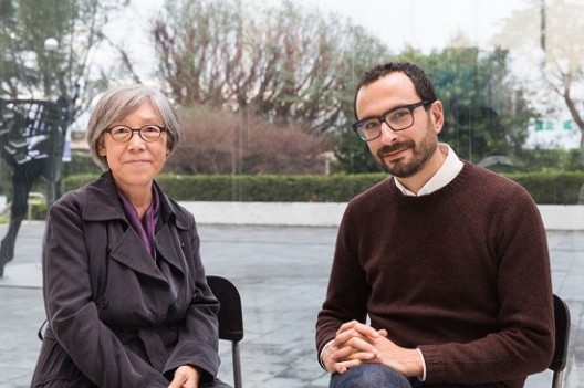 2018 Taipei Biennial Co-Curators, Mali Wu (L) and Francesco Manacorda (R) © Taipei Fine Arts Museum2018台北雙年展策展人吳瑪悧(左)、范切斯科.馬納克達(右)合影 © 臺北市立美術館