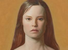 Kurt Kauper - Woman #2, 2017 (detail) - Oil on Dibond - 88 x 58 inches; 223,5 x 147,3 cm - © Kurt Kauper - Courtesy of the Artist and Almine Rech Gallery - Photo credit: Matt Kroening