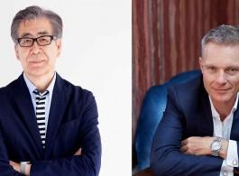 Fumio Nanjo and Tim Marlow, curators of Hong Kong's first international sculpture park, Harbour Arts Sculpture Park. Courtesy Cat Garcia