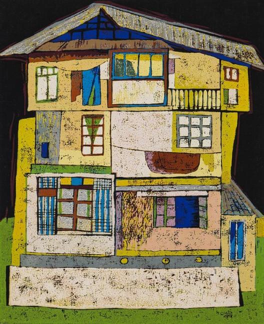A Colourful Village House II, 2001, 22 x 18cm