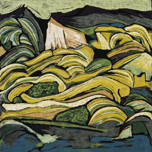 Dawa Mountain, 1999, 40 x 40cm