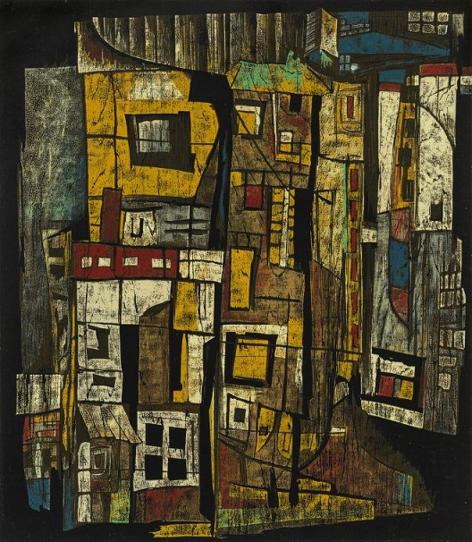 Wooden Houses Street, 1991, 63 x 55cm