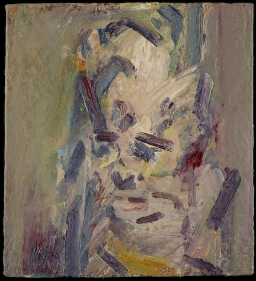 Head of Catherine Lampert, 2015, oil on board, 56.5 x 51.4 cm.; 22¼ x 20¼ in. Copyright Frank Auerbach, Courtesy Marlborough Fine Art