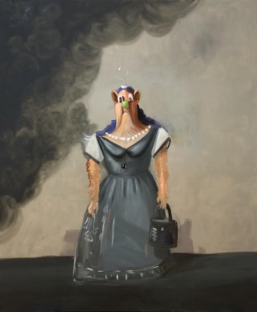 "George Condo, ""Antipodal Dream"", oil on canvas, 183 x 152.2 cm, diptych, 2016, © Sprüth Magers 乔治·康多, 《反梦》,油画颜料,油画布,183×152.2 cm,双联画,2016,© Sprüth Magers"